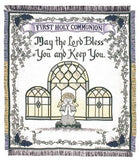 First Holy Communion Mid-Size 2 1/2 Layer Throw [Girl]