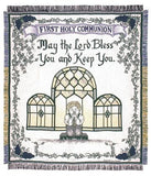 First Holy Communion Mid-Size 2 1/2 Layer Throw [Boy]