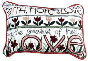 Faith, Hope & Love Pillow