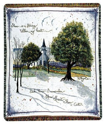 How Great Thou Art Mid-Size Tapestry Throw