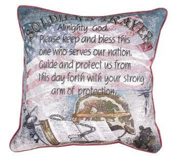 Soldiers Prayer Pillow