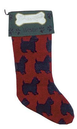 West Highland Terrier Stocking