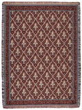 Fleur De Lis (Red) Tapestry Throw