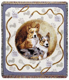 Corgi Mid-Size Tapestry Throw