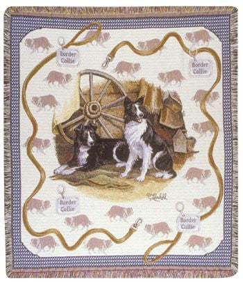Border Collies Mid-Size Tapestry Throw