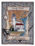 Sandy Hook, Nj Lighthouse Tapestry Throw