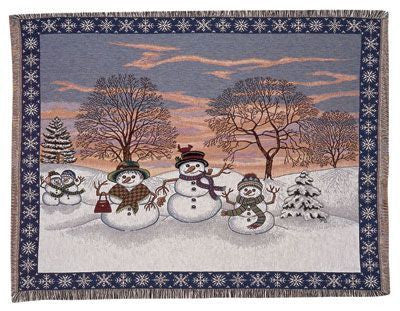 Snowman Mid-Size Tapestry Throw