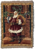 Fireplace Santa Mid-Size Tapestry Throw