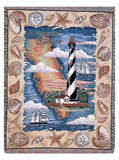 St. Augustine Lighthouse Mid-Size Tapestry Throw