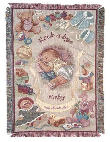 Rock A Bye Baby Mini Tapestry Throw
