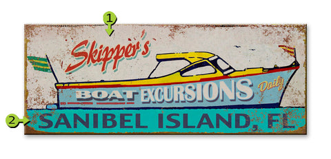 Boat Excursions Metal 17x44