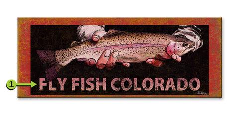 Fly Fish (Ed Anderson) Wood 17x44