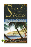 Sail the Tropics Wood 28x48