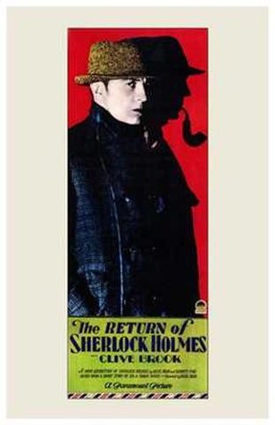 The Return of Sherlock Holmes Movie Poster Print