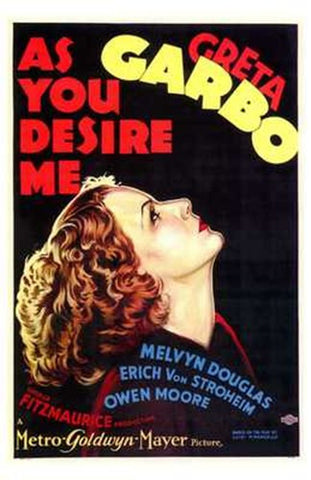 as You Desire Me Movie Poster Print
