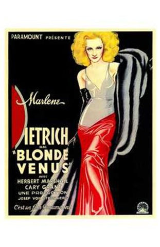 Blonde Venus Movie Poster Print