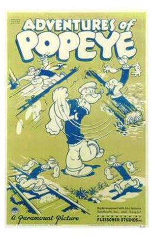 Adventures of Popeye Movie Poster Print