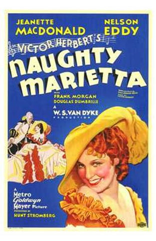 Naughty Marietta Movie Poster Print