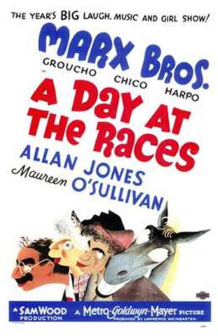 Day At the Races  a Movie Poster Print