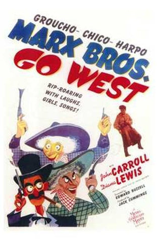 Go West Movie Poster Print