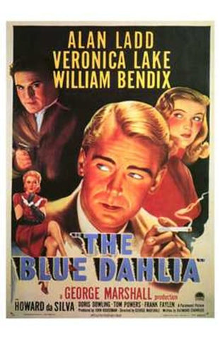 The Blue Dahlia Movie Poster Print