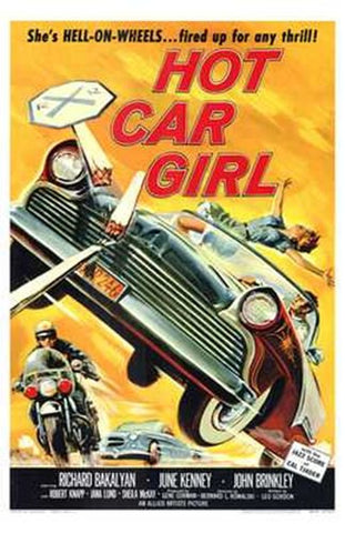 Hot Car Girl Movie Poster Print