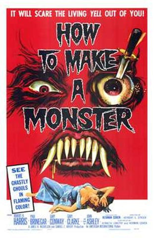 How to Make a Monster Movie Poster Print