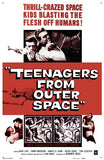 Teenagers from Outer Space Movie Poster Print