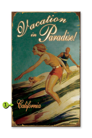 Vacation in Paradise Metal 23x39