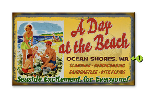 Day at the Beach Metal 18x30