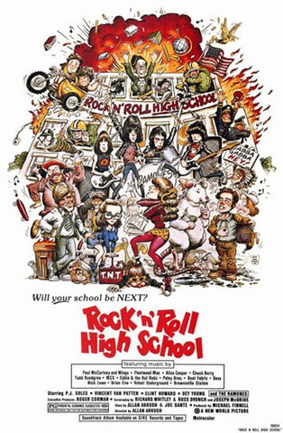 Rock N Roll High School Movie Poster Print