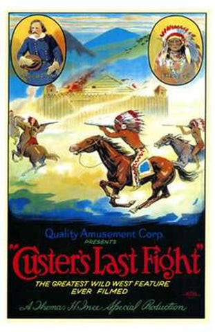 Custer's Last Fight Movie Poster Print