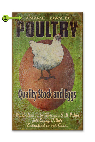Quality Stock, Eggs and Poultry Wood 28x48