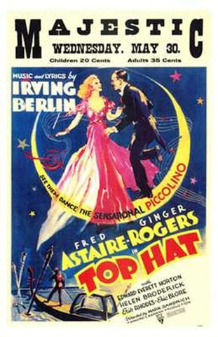 Top Hat Movie Poster Print