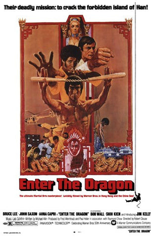 Enter the Dragon Movie Poster Print