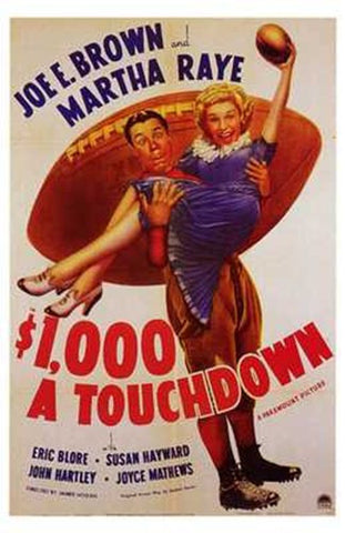 $1 000 a Touchdown Movie Poster Print