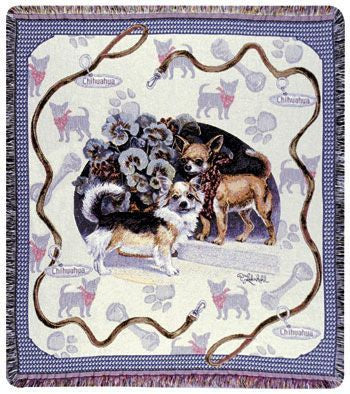 Tapestry - Chihuahua Throw