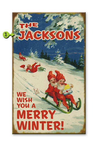 We Wish You a Merry Winter Metal 23x39
