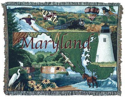 Tapestry - State Of Maryland Throw