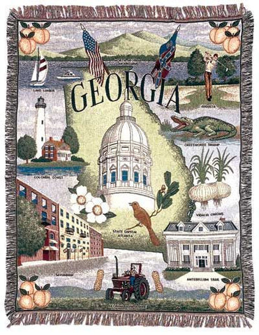 Tapestry - State Of Georgia Throw