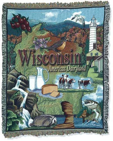 Tapestry - State Of Wisconsin Throw