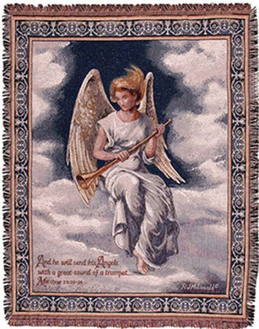 Tapestry - Trumpeting Angel Throw