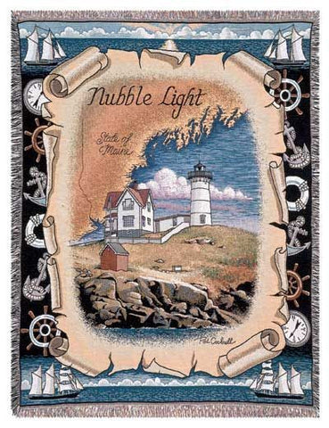 Tapestry - Nubble Light, Me Throw