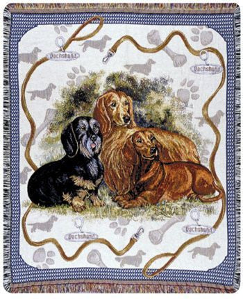 Tapestry - Dachshund Throw