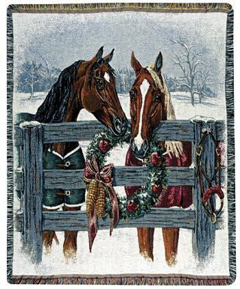Tapestry - A Horse'S Holiday Throw