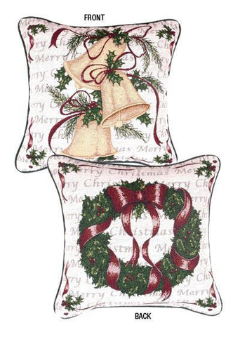 Pillow - Traditions Of Christmas,Wreath/Bell Pillow