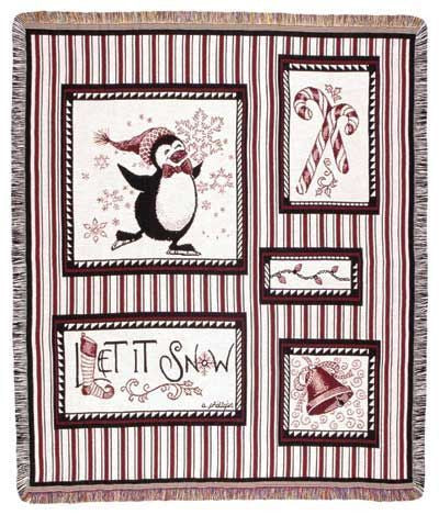 Tapestry - Snow Penguins Throw