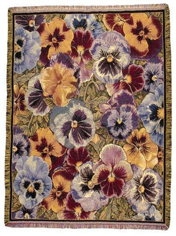 Tapestry - Pansies Throw