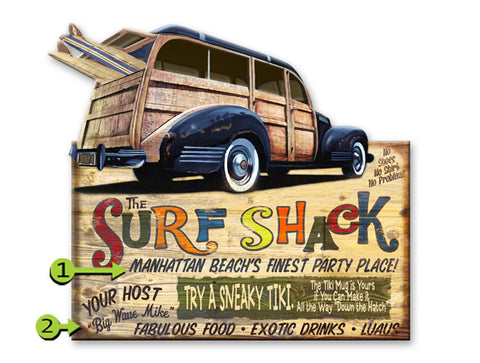 Surf Shack with Woody Wood 28x48