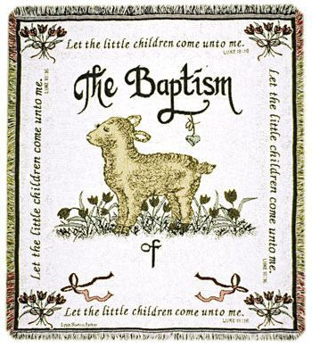 M/S- Baptism (Personalized) Throw